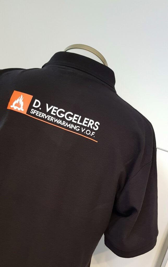 D.Veggelers logo opdruk polo rug