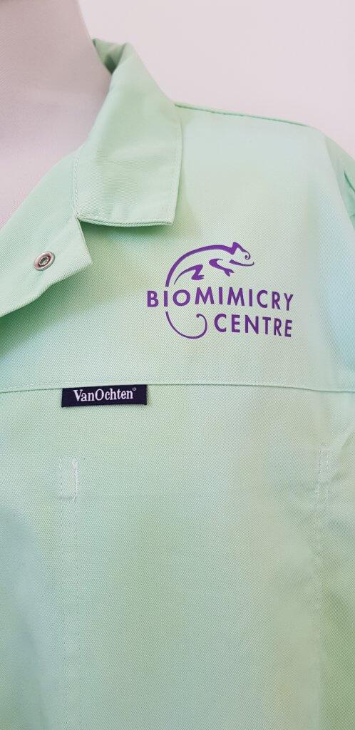 Logo opdruk Biomimicry centre