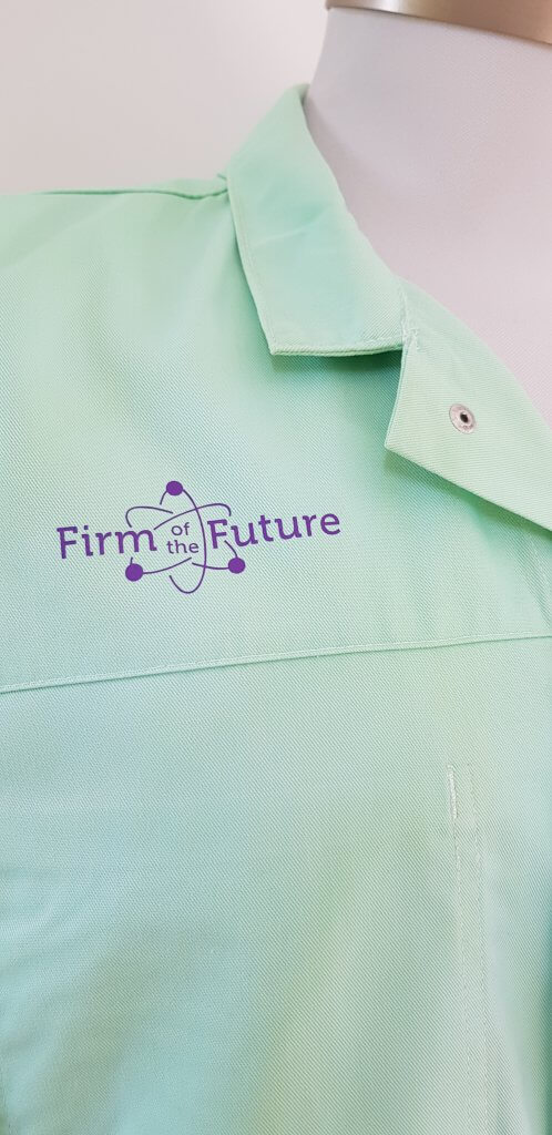 Logo opdruk Firm of the future