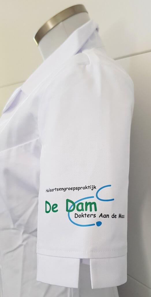 Logo opdruk mouw De Dam
