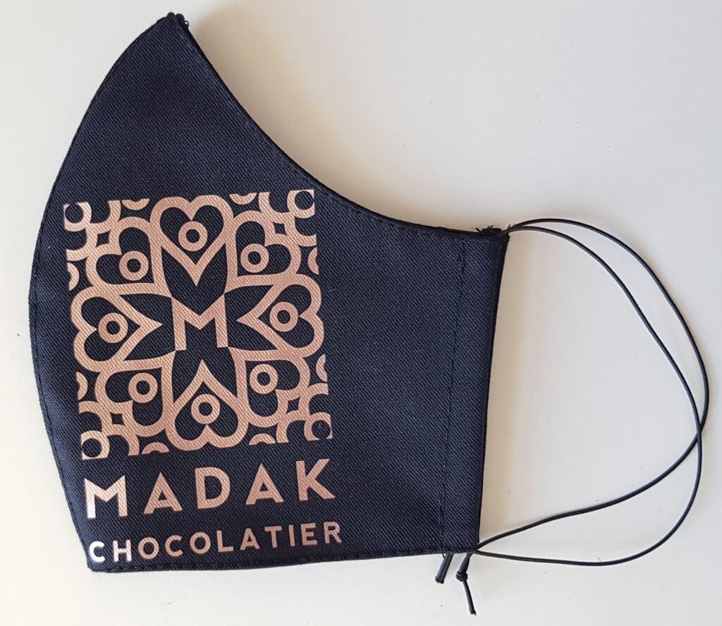Mondkapje met Madak logo opdruk