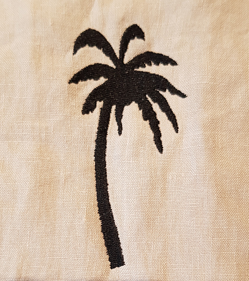 Borduring Kussensloop Palmboom