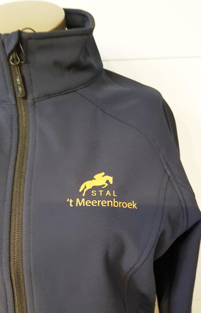 Logo opdruk t'Meerenbroek softshell