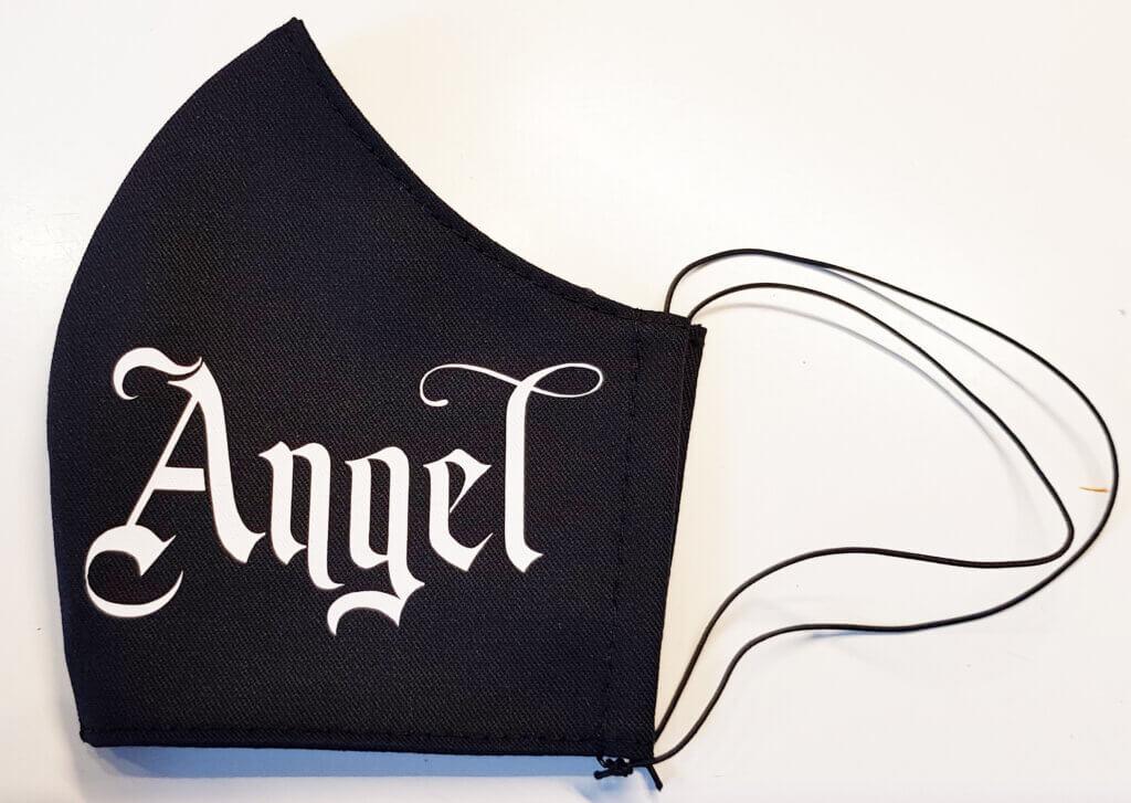 Mondkapje bedrukt Angel