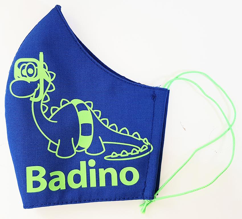 Mondkapje bedrukt zwembad Badino